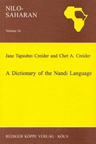 9783896451347: A Dictionary of the Nandi Language (Nilo-Saharan)