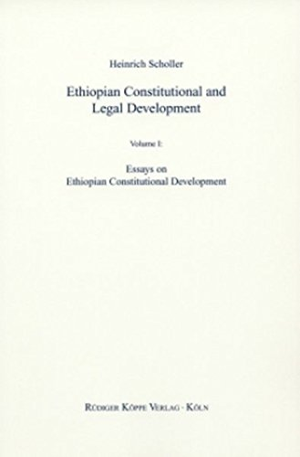 9783896454072: Ethiopian Constitutional and Legal Development Vol. 1: Essays on Constitutional Development