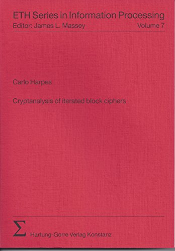 9783896490797: Cryptanalysis of iterated block ciphers (Livre en allemand)