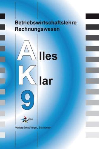 9783896502506: Betriebswirtschaftslehre/Rechnungswesen, Ausgabe Realschule : 9. Jahrgangsstufe (Livre en allemand)