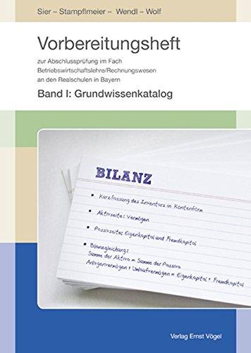 9783896503367: Vorbereitungsheft zur Abschlussprüfung/BWL Realschule Bayern