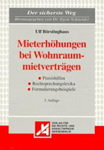 9783896550781: Mieterhohungen bei Wohnraummietvertragen: Strategien und Muster zur Durchsetzung und Abwehr