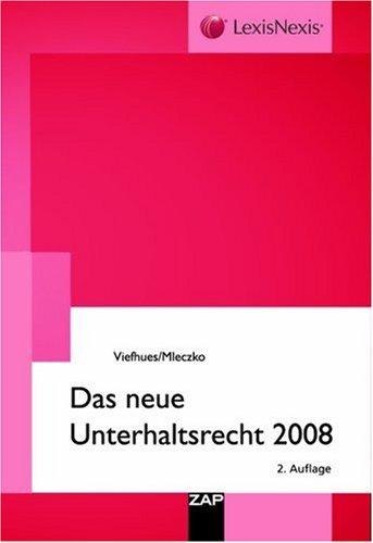 9783896552532: Das neue Unterhaltsrecht 2008