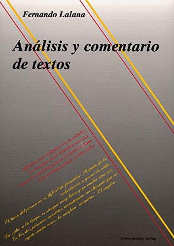 9783896573810: Analisis y comentario de textos