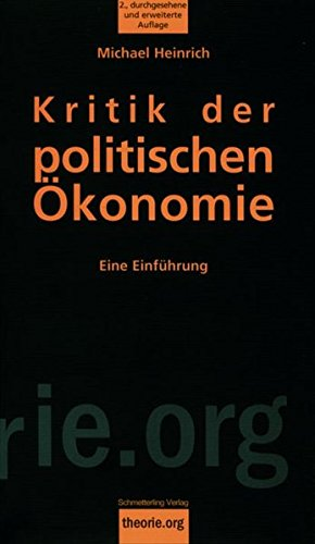 Kritik der politischen +konomie