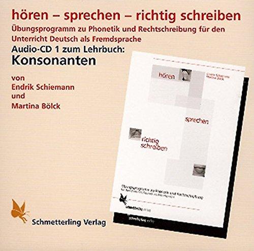 9783896578037: hören - sprechen - richtig schreiben. CD. Konsonanten