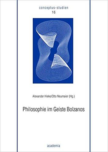 9783896652898: Philosophie im Geiste Bolzanos