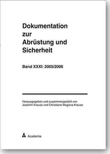 9783896654342: Dokumentation zur Abrüstung und Sicherheit: 2005/2006