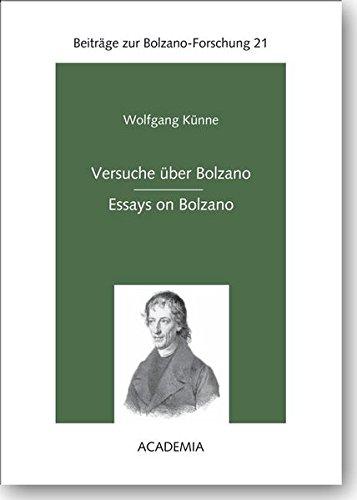 9783896654618: Versuche über Bolzano