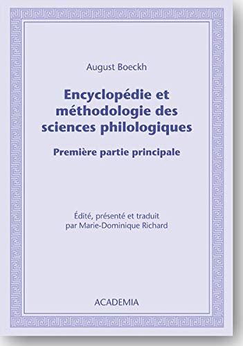 9783896656223: Encyclopédie et méthodologie des sciences philologiques