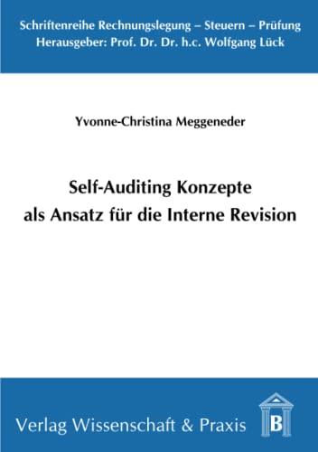 9783896735188: Self-Auditing Konzepte als Ansatz für die Interne Revision