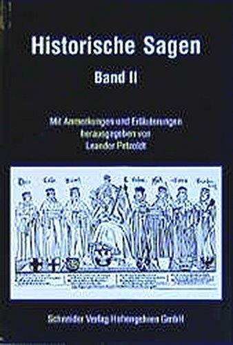 9783896763938: Historische Sagen 1/2.
