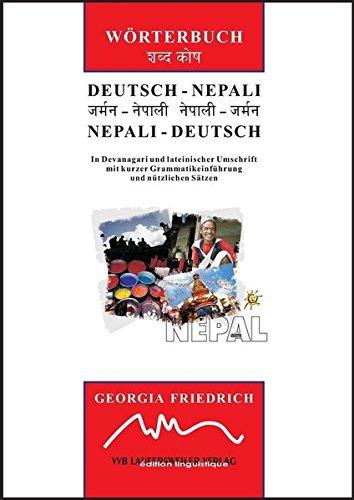 9783896871008: Friedrich, G: Deutsch-Nepali & Nepali-Deutsch Wörterbuch (in