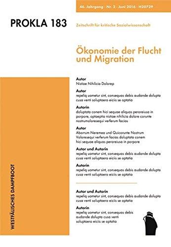9783896913838: Ökonomie der Flucht und Migration
