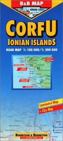 9783897070066: B&B Corfu & Ionian Islands Laminated Road Map (B&B maps)