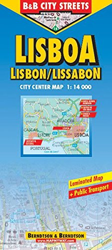 9783897071506: Berndtson Lisbon/Lisboa/Lissabon City Streets Map (City Map)