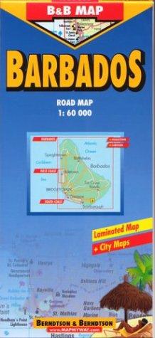 B&B Barbados Laminated Map (Road Maps): Berndtson