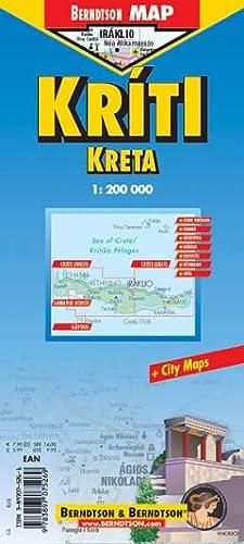 9783897075269: B&B Crete / Kriti / Kreta Laminated Map