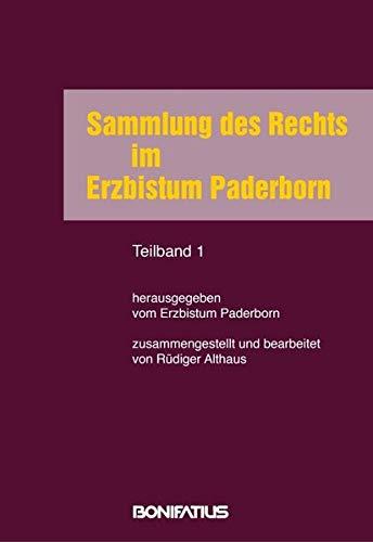 Sammlung des Rechts im Erzbistum Paderborn - 2 Teilbände