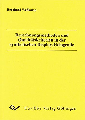 Berechnungsmethoden und Qualitätskriterien in der synthetischen Display-: Weßkamp, Bernhard