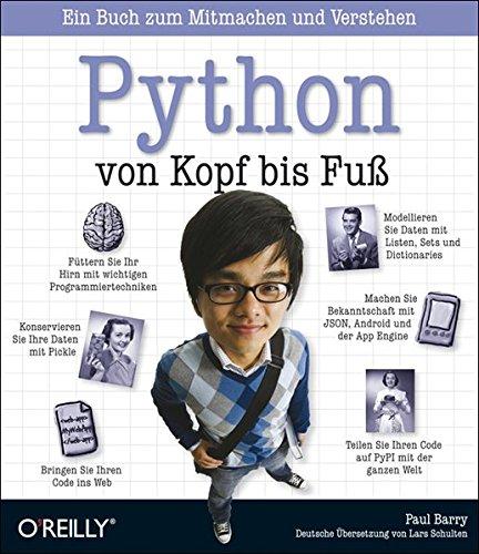 9783897213180: Python von Kopf bis Fuß