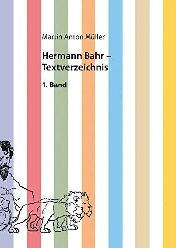 9783897398009: Hermann Bahr - Textverzeichnis: Supplementband