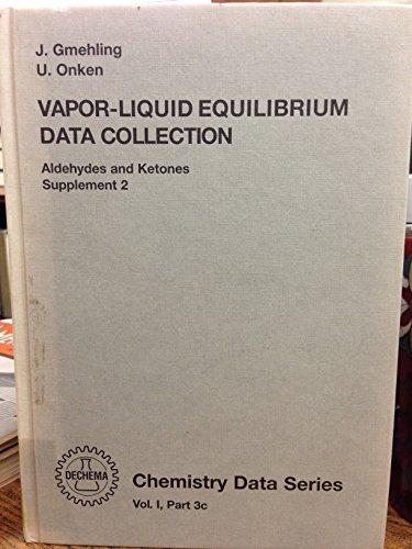 Vapor-liquid Equilibrium Data Collection Pt. 3c Aldehydes: Jurgen Gmehling, Ulfert