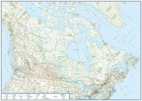9783897642300: Canada Übersichtskarte 1 : 6 000 000 gerollt