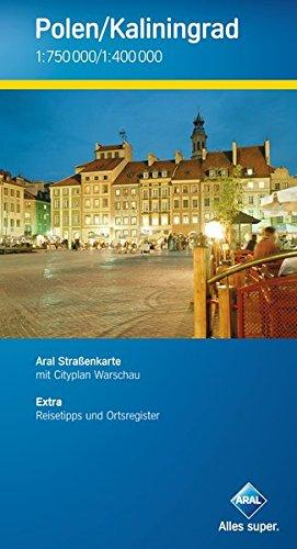 Aral Straßenkarte Polen / Kaliningrad 1 : 750 000 / 1 : 400 000