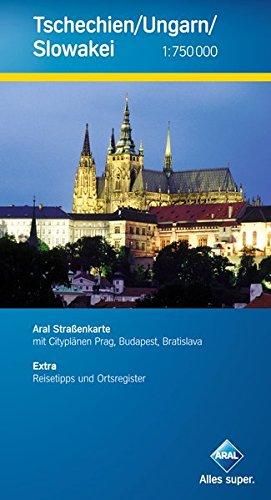 9783897642713: Aral Straßenkarte Tschechien / Ungarn / Slowakei 1 : 750 000: Mit Cityplänen Prag, Budapest, Bratislava / Reisetipps und Ortsregister