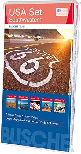 9783897643864: USA Set - Southwestern. 5 Karten im Set: Arizona, California, Nevada, Utah, Übersichtskarte USA West; Busche Map Straßenkarten