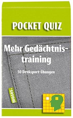 9783897774803: Mehr Gedächtnistraining. Pocket Quiz: 50 Denksport-Übungen