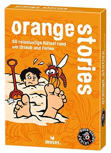 9783897776227: black stories junior: orange stories: 50 reiselustige Rätsel rund um Urlaub und Ferien
