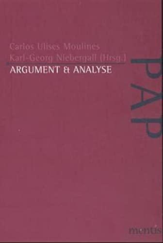 Argument und Analyse: Carlos U Moulines