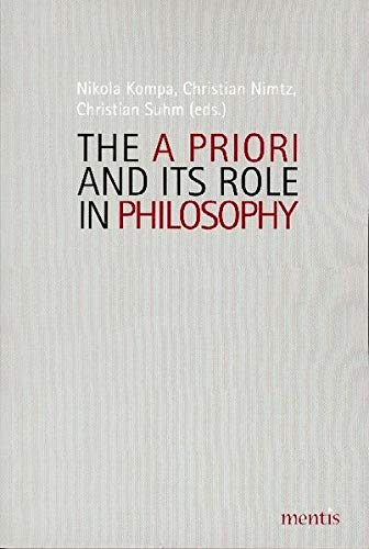 9783897856622: The A Priori and Its Role in Philosophy