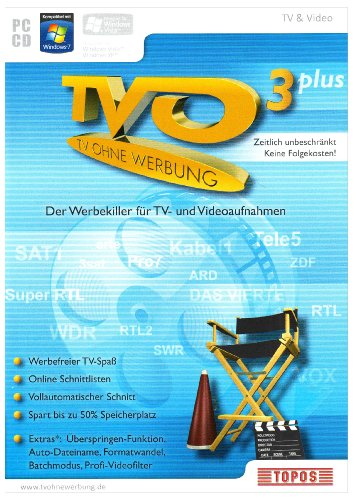 9783897889354: TVO - TV ohne Werbung 3 Plus mit Feature-Pack / Windows 7, Vista, XP