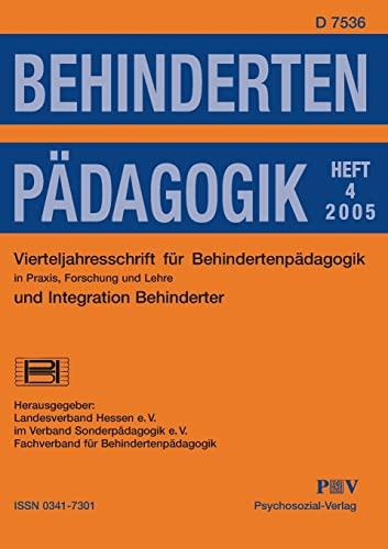 9783898064927: Behindertenpädagogik - Vierteljahresschrift für Behindertenpädagogik und Integration Behinderter in Praxis, Forschung und Lehre