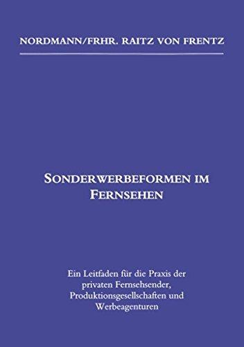 Sonderwerbeformen Im Fernsehen: Matthias Nordmann