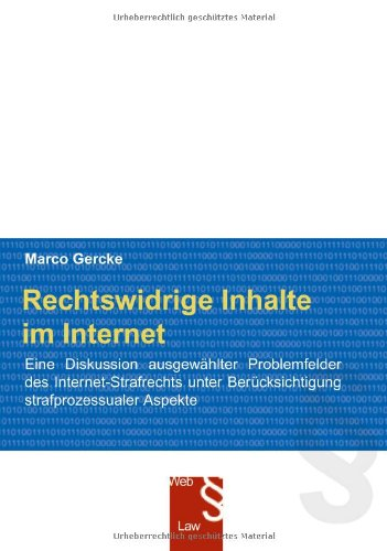 9783898118606: Rechtswidrige Inhalte im Internet.