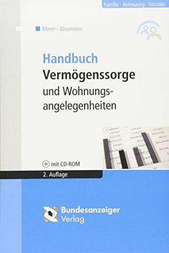 9783898177290: Handbuch Vermögenssorge und Wohnungsangelegenheiten