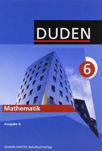 9783898185738: Duden. Mathematik 6. Ausgabe G. Lehrbuch