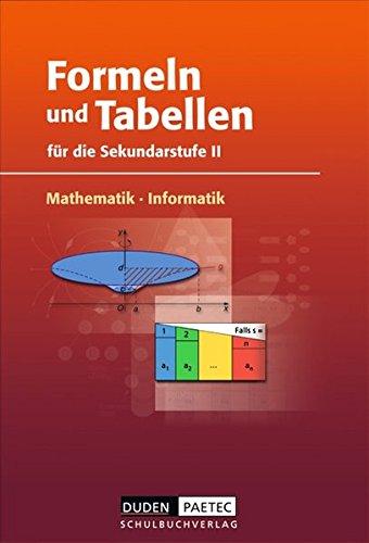 9783898186063: Formeln und Tabellen Mathematik, Informatik für di