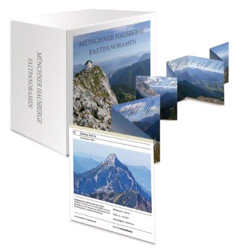 9783898234283: Münchner Hausberge Faltpanoramen-Box: Mit Bezeichnungen und Höhenangaben zu jedem Gipfel. Mit kurzen Beschreibungen zu Wanderrouten und Schwierigkeitsgrad Edition Panorama.