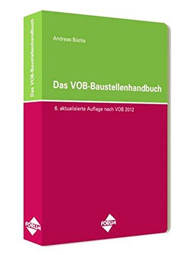 9783898278966: Das VOB-Baustellenhandbuch