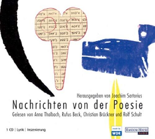 9783898309462: Nachrichten von der Poesie. CD