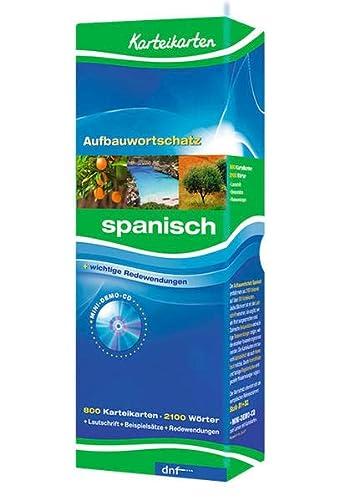 9783898317078: Karteikarten Aufbauwortschatz Spanisch: 800 Karteikarten. Über 2100 Stichwörter. Mit Lautschrift