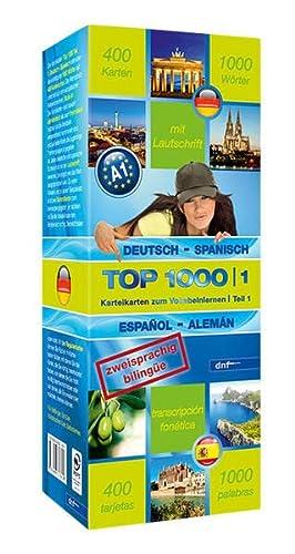 9783898317610: Top 1000 Teil 1. Deutsch-Spanisch / Spanisch-Deutsch: 400 Karteikarten