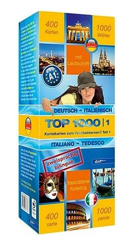 9783898317627: Top 1000 Teil 1. Deutsch-Italienisch / Italienisch-Deutsch: 400 Karteikarten