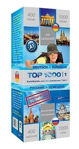 9783898317634: Top 1000 Teil 1. Deutsch-Russisch / Russisch-Deutsch: 400 Karteikarten