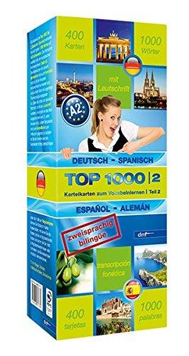 9783898317702: Top 1000 Teil 2. Deutsch-Spanisch / Spanisch-Deutsch: 400 Karteikarten